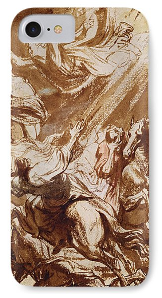 The Martyrdom Of Saint Catherine IPhone Case by Sir Anthony van Dyck