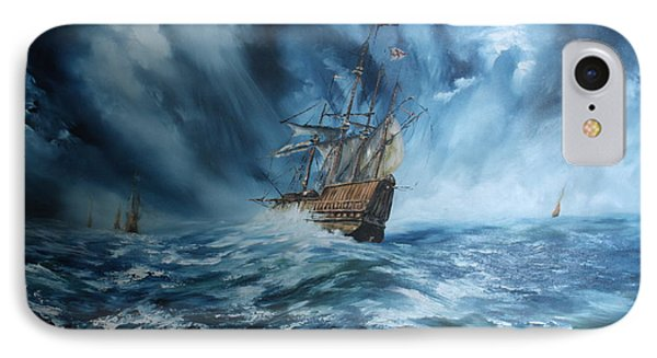 The Mary Rose And Fleet IPhone Case by Jean Walker