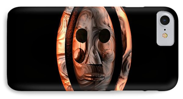 IPhone Case featuring the digital art The Mask Series 1 by Jacqueline Lloyd