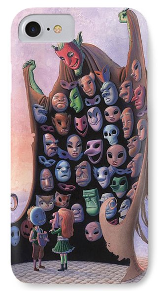 The Mask Vendor IPhone Case by Richard Moore