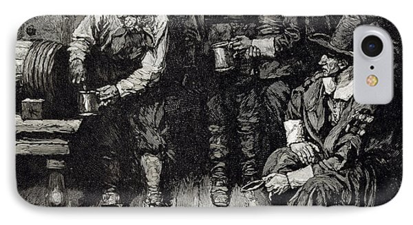 The Master Caused Us To Have Some Beere, From Harpers Magazine, 1883 Litho IPhone Case by Howard Pyle