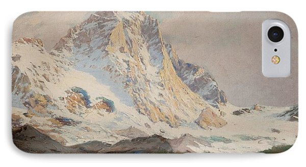 The Matterhorn, 1910 IPhone Case by Leonardo Roda