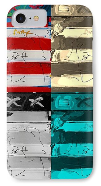 The Max Face In Quad Colors Phone Case by Rob Hans