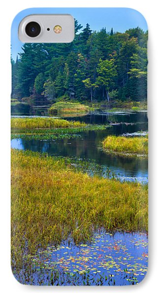 The Meandering Moose River - Old Forge New York Phone Case by David Patterson