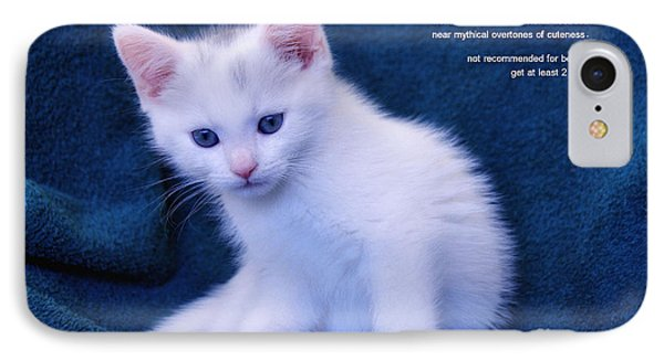 The Meaning Of A Kitten IPhone Case by Elaine Manley