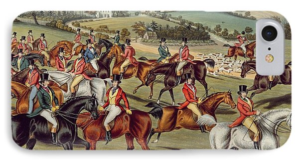 'the Meet' Plate I From 'fox Hunting' Phone Case by Charles Senior Hunt