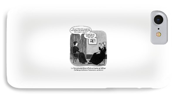 The Meeting Of The Mothers Of Toulouse-lautrec IPhone Case