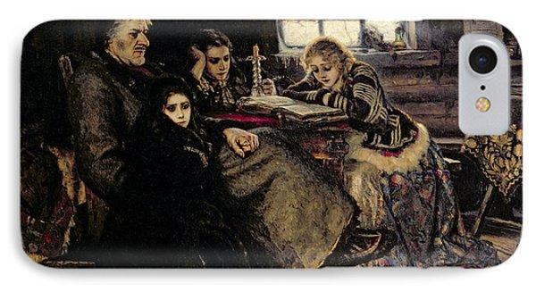 The Menshikov Family In Beriozovo, 1883 Oil On Canvas IPhone Case by Vasilij Ivanovic Surikov