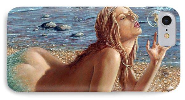 Shore iPhone 7 Case - The Mermaids Friend by John Silver