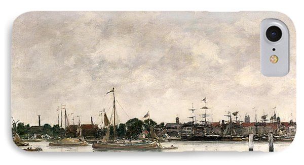 The Meuse At Dordrecht Phone Case by Eugene Louis Boudin