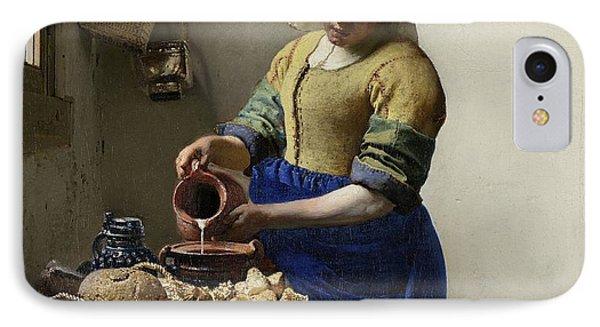The Milkmaid Phone Case by Johannes Vermeer