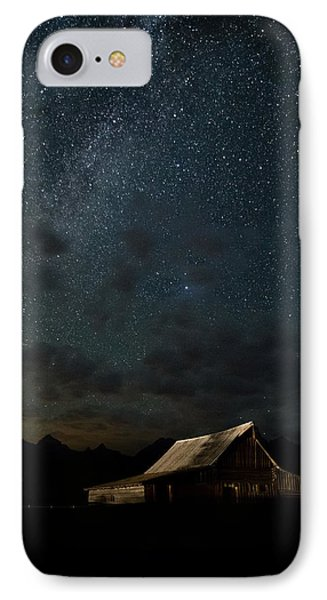 The Milky Way On Moulton Barn - Grand Teton National Park IPhone Case by Andres Leon