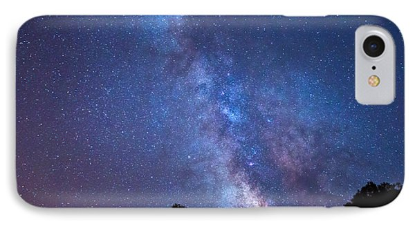 The Milky Way Over The Mountain IPhone Case