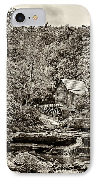 The  Mill At Babcock Sepia IPhone Case