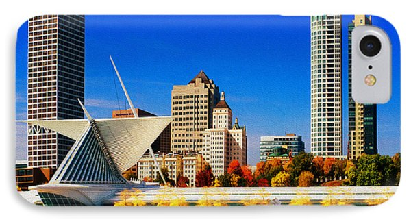 The Milwaukee Art Museum Phone Case by Jack Zulli