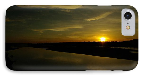 The Missouri River At Sunset South Of Culbertson Mt  IPhone Case