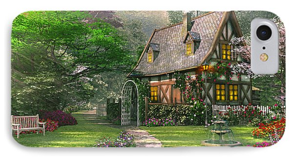 The Misty Lane Cottage IPhone Case by Dominic Davison