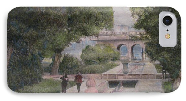 IPhone Case featuring the painting The Moghul Gardens by Vikram Singh