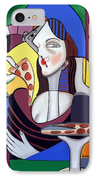 The Mona Pizza Phone Case by Anthony Falbo