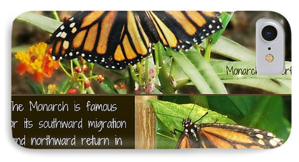 IPhone Case featuring the photograph The Monarch Story by Mindy Bench