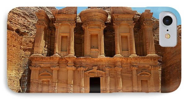 The Monastery At Petra IPhone Case
