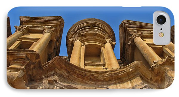 IPhone Case featuring the photograph The Monastery In Petra by David Gleeson