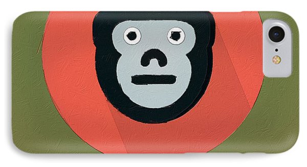 The Monkey Cute Portrait IPhone Case by Florian Rodarte
