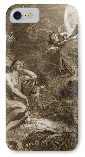 The Moon And Endymion, 1731 IPhone Case by Bernard Picart