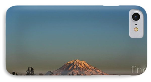 The Moon And Mt. Rainier IPhone Case by Gayle Swigart