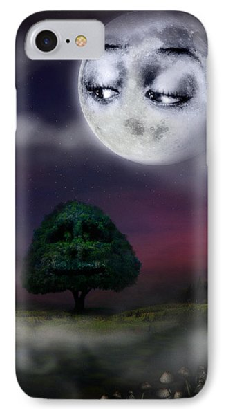 The Moon And The Tree IPhone Case by Alessandro Della Pietra