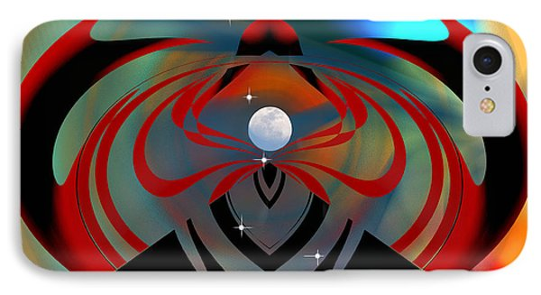 IPhone Case featuring the digital art The Moon In Cancer by rd Erickson