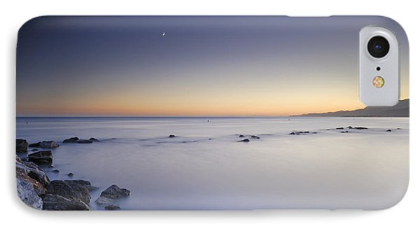 the Moon over the sea Phone Case by Guido Montanes Castillo