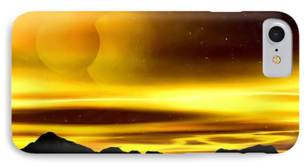 IPhone Case featuring the painting The Moons Of Midas by Pet Serrano