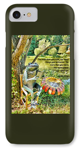 The More That You Read... IPhone Case by Jean Goodwin Brooks