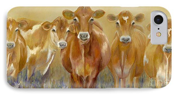 Cow iPhone 7 Case - The Morning Moo by Catherine Davis