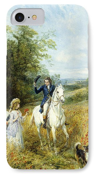The Morning Ride IPhone Case by Heywood Hardy