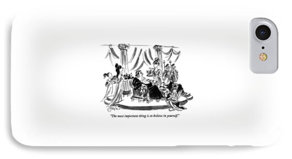 The Most Important Thing Is To Believe IPhone Case by Edward Frascino