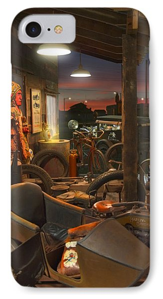 The Motorcycle Shop 2 IPhone Case by Mike McGlothlen