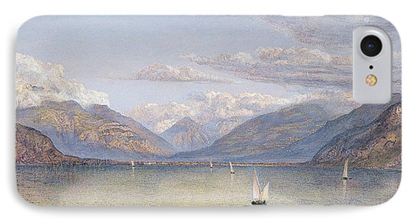 The Mountains Of St Gingolph IPhone Case by John Brett