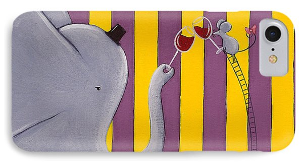 The Mouse And The Elephant Phone Case by Christy Beckwith