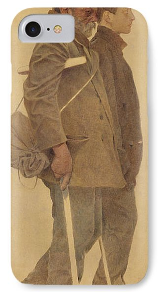 The Mouthful Of Bread, Study For Charity, 1892-1908 Oil On Canvas IPhone Case
