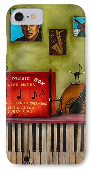 The Music Box Edit 3 Phone Case by Leah Saulnier The Painting Maniac