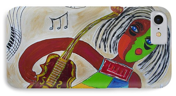 IPhone Case featuring the painting The Music Practitioner by Sharyn Winters