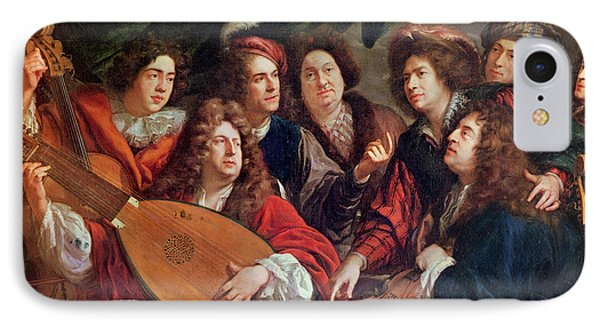 The Musical Society, 1688 Oil On Canvas IPhone Case by Francois Puget
