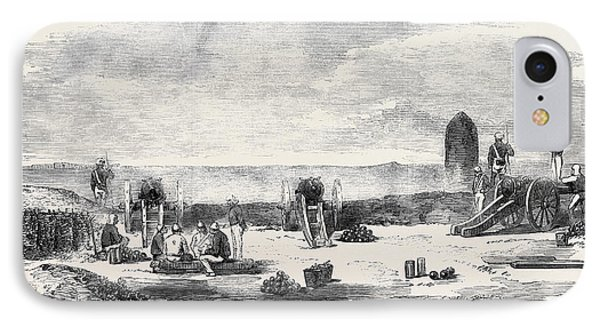 The Mutiny In India The Mound Battery Before Delhi IPhone Case by Indian School