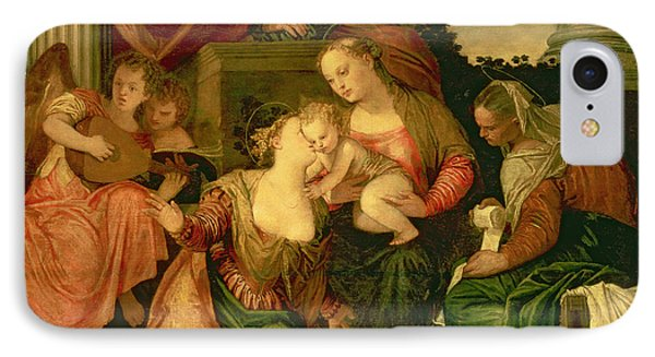 The Mystic Marriage Of Saint Catherine IPhone Case by Veronese