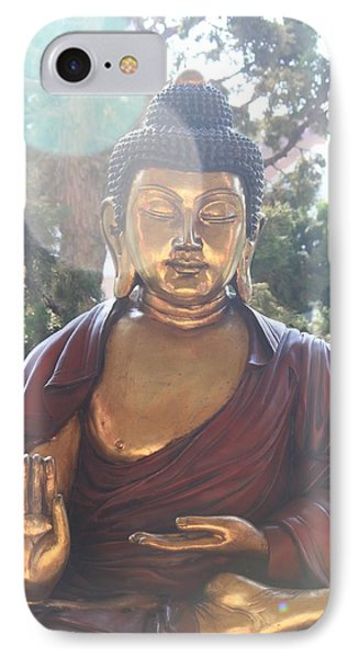 IPhone Case featuring the photograph The Mystical Golden Buddha by Amy Gallagher