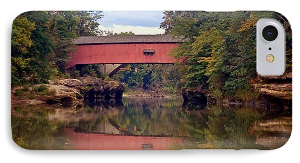 The Narrows Covered Bridge 4 Phone Case by Marty Koch