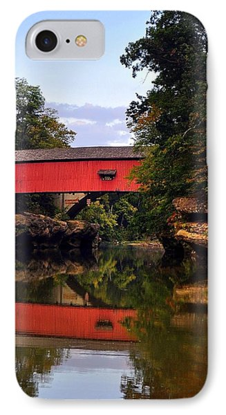 The Narrows Covered Bridge 5 Phone Case by Marty Koch