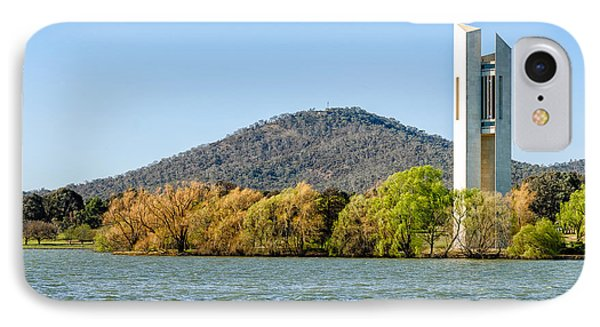 The National Carillon And Lake Burley Griffin - Canberra - Australia Phone Case by David Hill